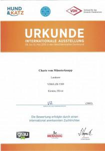Urkunde_Charis_vom_Muensterknapp_Internationale_Ausstellung_Dortmund#